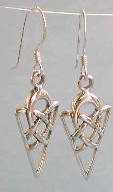 Wholesale Celtic jewelry, Celtic knot work design sterling silver earring
