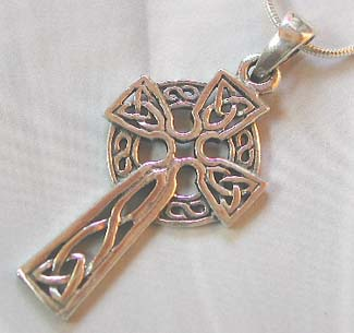 Wholesale celtic jewelry, sterling silver celtic cross pendant