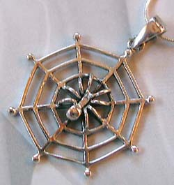 Cheap body jewelry supplier wholesale sterling silver spider pendant