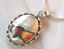 Body jewelry distributor wholesale sterling silver with white mother seashell stone pendant
