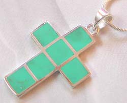 Sterling silver on sale online wholesale sterling silver cross pendant with turquoise