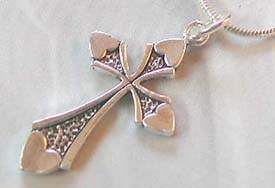 Religious jewelry wholesale supplier wholesale sterling silver cross pendent with dotted design