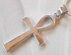 Sterling silver supplier wholesale sterling silver cross pendant with rain-drop hole on top