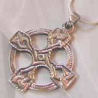Silver jewelry supply wholesale celtic knot decor with cross pendant