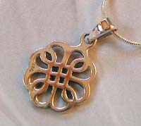 Sterling celtic jewelry supplier online wholesale celtic flower knot pendant